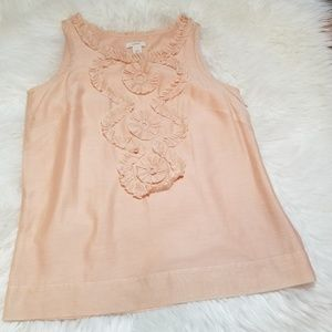 NWOT J.Crew Silk Blend Peach/Blush Blouse sz 4